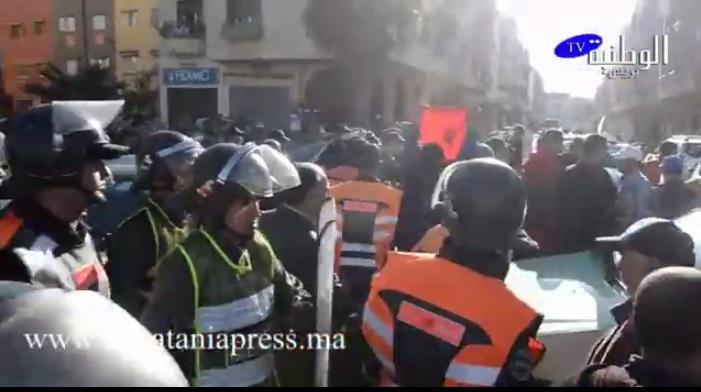 شوفوا شنوا واقع في المحمدية …اعتقال 13 نقابيا وحجز 39 سيارة أجرة