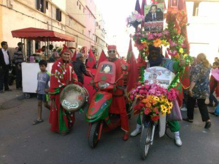 مسيرات واحتفالات صاخبة بمدينة المحمدية بمناسبة ذكرى المسيرة الخضراء