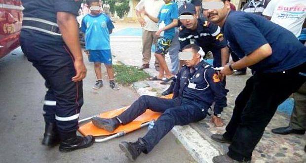 شرطي بالمحمدية يتعرض لاعتداء ..بعدما اراد تحرير مخالفة مرورية في حق أحد السائقين