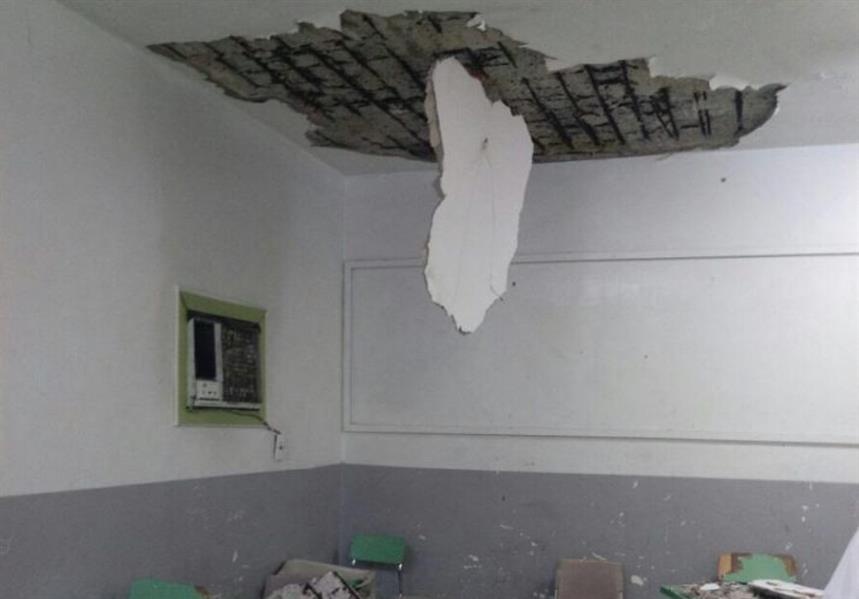 خطير !! توقيف الدراسة بسبب انهيار كثل اسمنتية بمدرسة عمومية نواحي المحمدية
