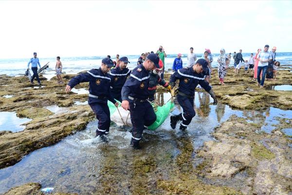 شاب يلفظ أنفاسه  غرقا بشاطئ السابليط بالمحمدية