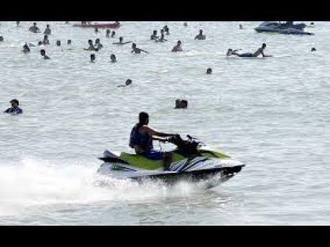 منع دراجات ( جيت سكي ) بشواطئ المحمدية ،ومواطنون يطالبون بوضع حد للفوضى  بالشواطئ