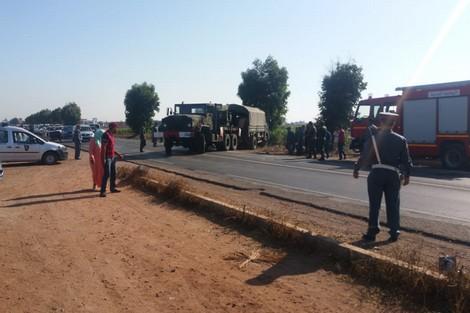 مصرع ستة أشخاص في حاذثة سير بين برشيد والدروة