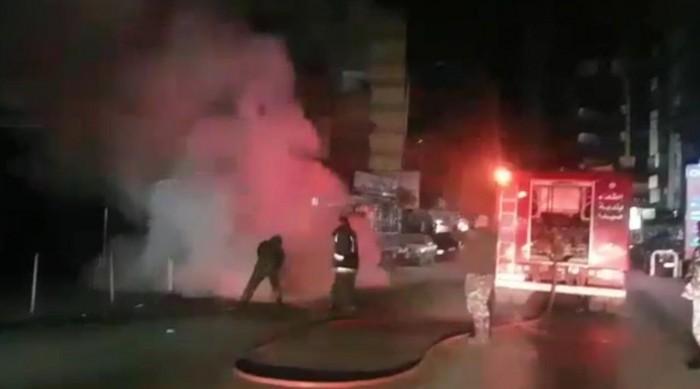 حريق يحول سيارة الى كثلة متفحمة بالمحمدية