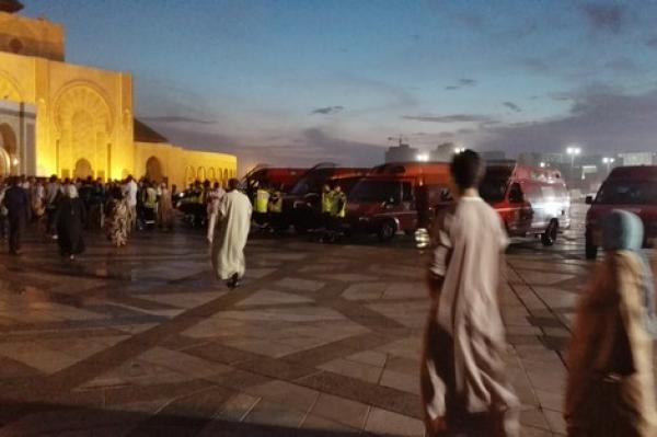 المديرية العامة للأمن الوطني توضح حقيقة شريط فيديوجريح مسجد الحسن الثاني