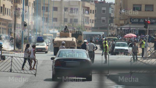 """عـــاجل بالصور : الجيش + مركبات حربية وسيارات """" هامر """" مدرعة بالمحمدية"""