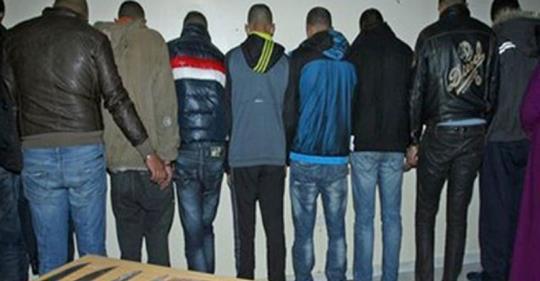 احالة أفراد العصابة الذين اعتقلوا  بنواحي المحمدية على محكمة الاستئناف بالبيضاء