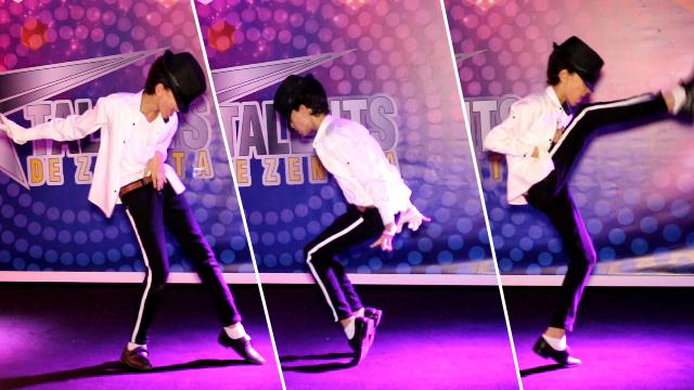 """طفل يصدم الحضور بتقليد خطير لـ """" مايكل جاكسون """" ..الجائزة الاولى في مجال الرقص"""