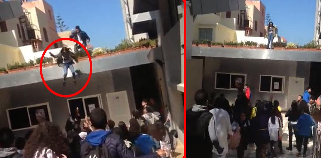 فيديو صادم .. تلميذة تقفز من سطح مؤسسة خصوصية بالمحمدية