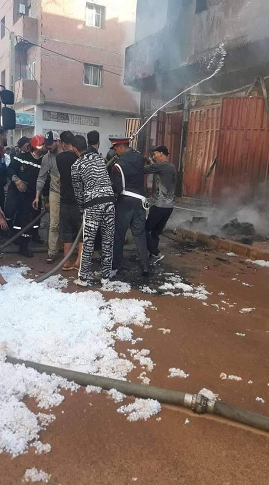المحمدية … دركي يبهر السكان أثناء نشوب حريق بجماعة الشلالات