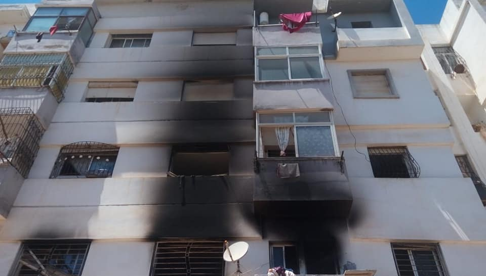 المحمدية ….. نشوب حريق بشقة