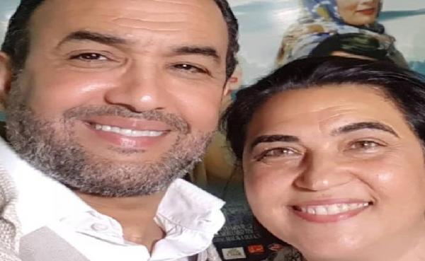 زوجة الفنان المغربي رشيد الوالي وهي في سن 51 سنة.