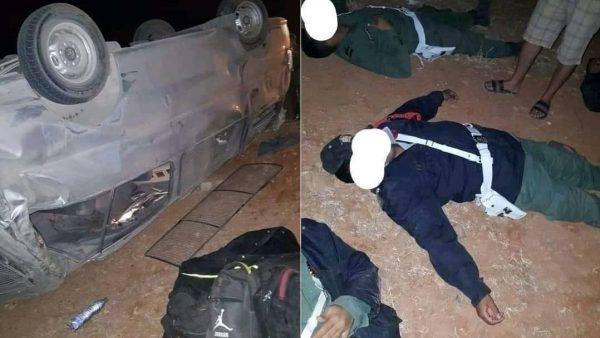 إصابة 20 دركيا بجروح بليغة في حادثة سير بالحسيمة