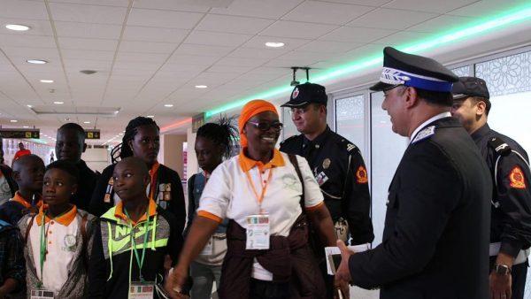 الدارالبيضاء …وصول 39 طفلا من أبناء رجال شرطة أفارقة بمطار محمد الخامس الدولي