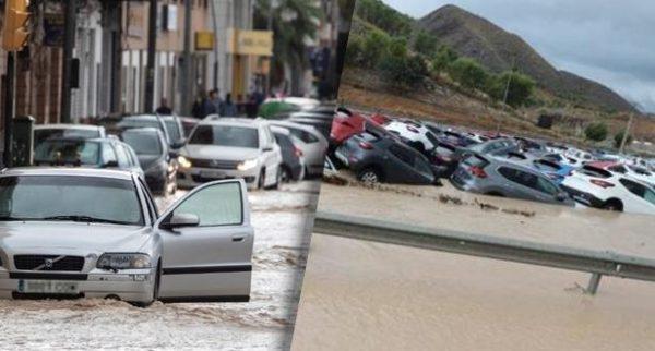 اسبانيا تغرق ….احتمال وقوع فيضانات وأعاصير وأمطار وزلازل  يوم غد السبت بدول أوروبية