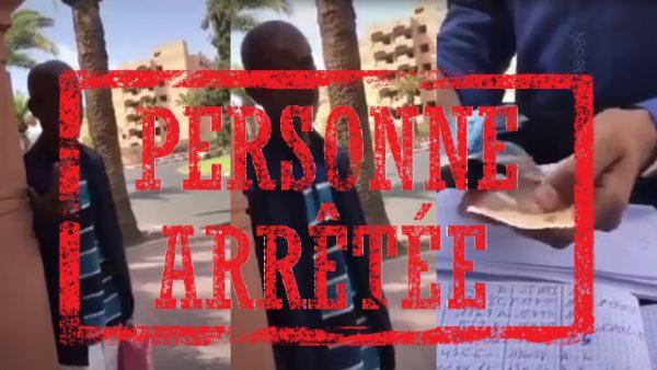 عاجل …رسميا اعتقال أحد الشبان  الذي استهزء من  رجل بواسطة مبلغ مالي  بمراكش