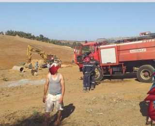 الخميسات .. بالصور :مقتل إثنين من العمال وإصابة ثلاثة آخرين في انهيار للتربة