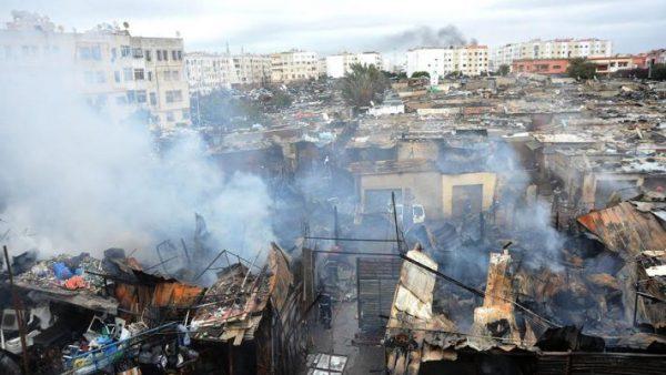 الدارالبيضاء … بالصور : انفجارات بسبب حريق توقض السكان من نومهم