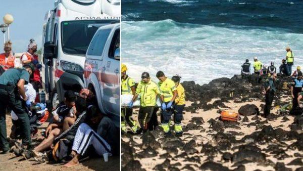 بالصور : فاجعة مصرع مهاجرين مغاربة غرقاً في سواحل جزر الكناري