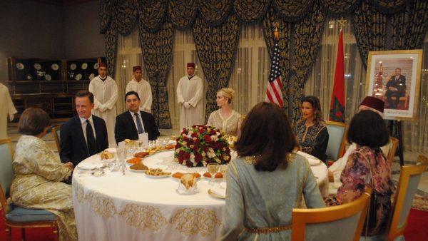 الملك يقيم مأدبة عشاء على شرف إيفانكا ترامب