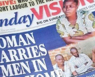 إمرأة أوغندية تتزوج من ثلاث رجال دفعة واحدة