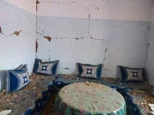 ميدلت… بالفيديو / تشققات وانهيارات في منازل  طينية بالنواحي