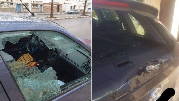 بني ملال …إصابة سيارات بالحجارة،بسبب صراع بين مجموعة من المخدرين