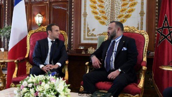 جلالة الملك يتلقى اتصالا هاتفيا من رئيس  الجمهورية الفرنسية