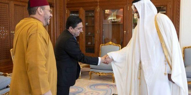 أمير دولة قطر يستقبل المستشار الملكي فؤاد عالي الهمة