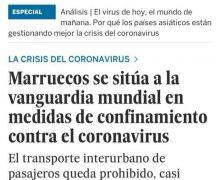 """جريدة """" إلبايس """" الاسبانية: المغرب يتصدر قائمة دول العالم في صرامة إجراءات مواجهة الوباء"""