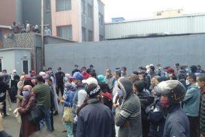 greve ouvriers usine de chaussures coronavirus3 456757899
