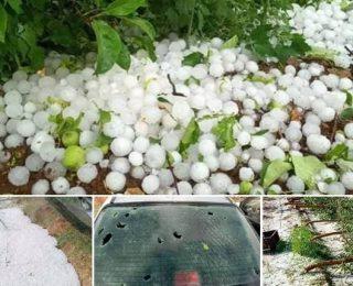 بالصور …عاصفة رعدية غير مسبوقة تضرب مدينة فاس ومكناس