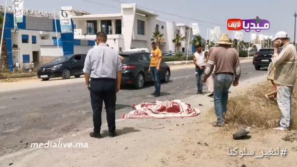 فيديو مؤتر .. لحظات قليلة بعد الحادتة المأساوية التي أدت الى وفاة شابين بالمنصورية