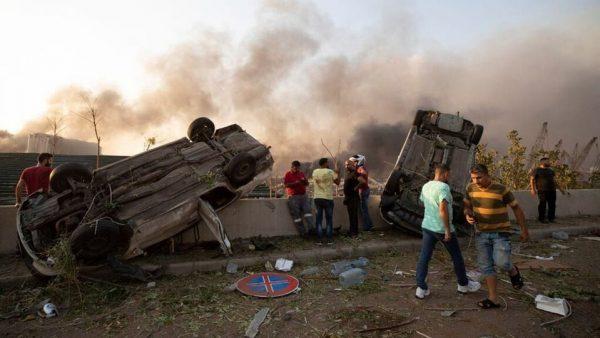 بالصور …حصيلة إنفجار بيروت ترتفع لأزيد من 100 قتيل و 4000 جريح
