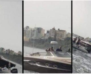 الملك  محمد السادس يظهر بين سواحل الفنيدق وسبتة  (فيديو)