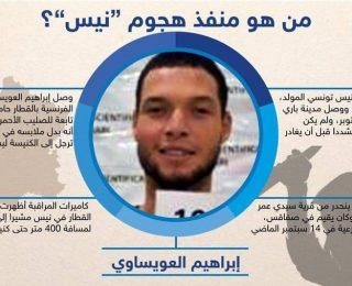 """معلومات جديدة عن  الإرهابي إبراهيم العويساوي """" سفاح نيس """" الفرنسية"""