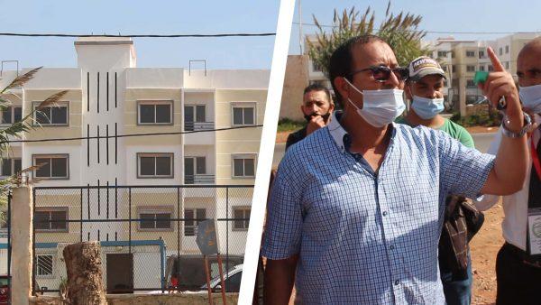 """وقفة احتجاجية لزبناء مشروع """" البركة """" السكني .. بعد تعذر تسليم الشقق ببني يخلف"""