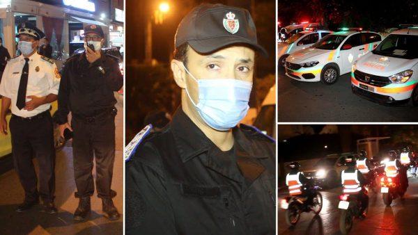 حملات أمنية متواصلة لتطبيق الإجراءات الإحترازية ضد فيروس كوفيد 19 بالمحمدية