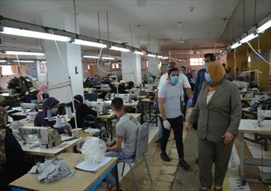 عين حرودة ….إغلاق مؤقت لحوالي 7  ورشات صناعية سرية  تشتغل في طوابق تحت أرضية