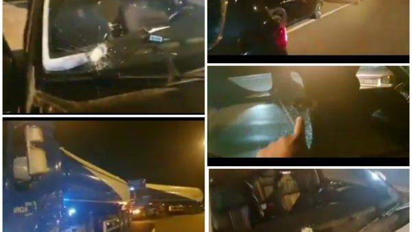 خريبكة … تكسير زجاج مجموعة من السيارات والشاحنات ليلا بالطريق السيار