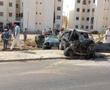 عين حرودة ..اصطدام قوي بين سيارتين يسفر عن سقوط ضحايا ( صور )