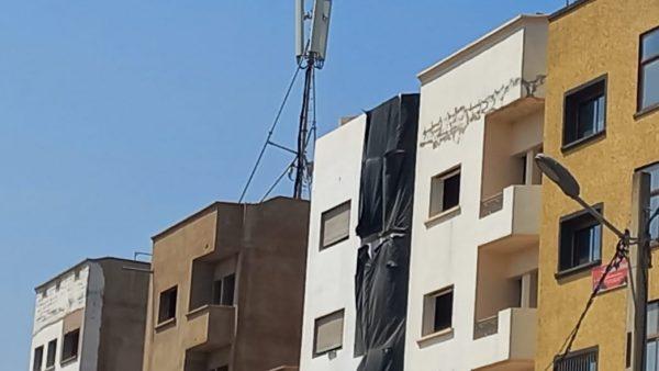عين حرودة ….برج للاتصال يقض مضاجع ساكنة حي الوفاء